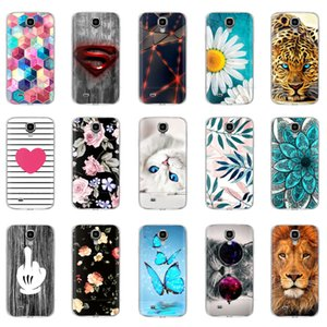 Silicone Soft Galaxy I9500 Case TPU Couverture Samsung Phone Shell Da Hoesje Protection pour S4 Mini Fleur