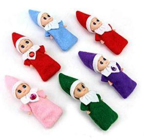 20 unids New New Christmas Baby Dolls Baby Toys Mini elf Navidad Decoración Decoración Muñecas Juguetes Niños Niños Regalos