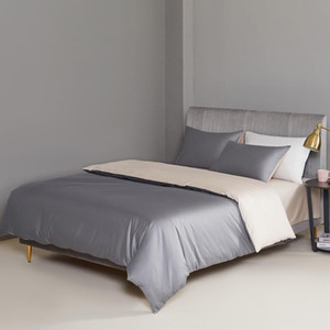 High end Egyptian Cotton Soft Silky Bedding Set Brief Solid Color Duvet Cover Bed Sheet Pillowcases 4Pcs Twin Queen King size