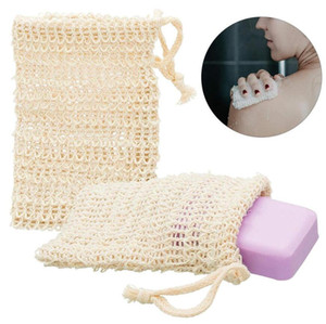 Soap Bag Exfoliating Cleansers Natural Zero waste Portable Soap Saver Net Mesh Bag Soft Foaming Massage Bag for Bathroom DHF3303