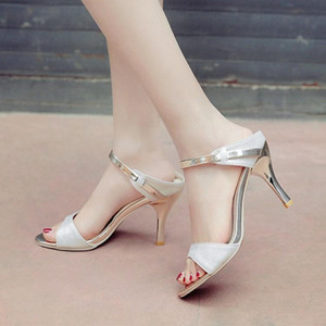Big Size 11 12 13 high heels sandals women shoes woman summer ladies Euro-Roman sandals with bare toes and matching colors