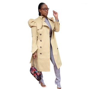 Color Trench Coats Fashion Lepal Neck Warm Winter Jacket Casual Womens with Button Coats Womens Solid