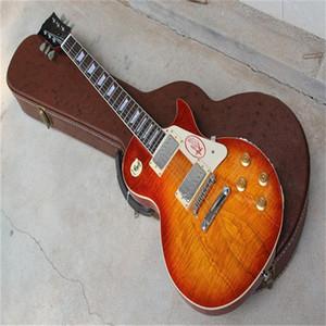Frete Grátis China Gbson Vintage Sunburst Color LP Modelo Chinês LP Standard Guitar Electric Adicione o estojo de guitarra