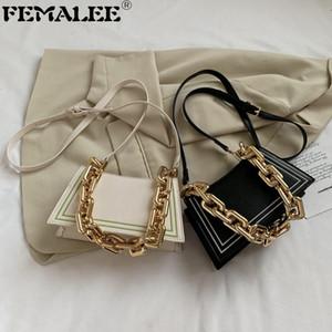 Trapezoid Portable Small New Style Women Thick Chain Crossbody Ladies Armpit Purse Handbags fashion Single Shoulder Bag Q1207