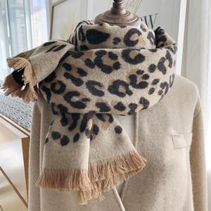 S1902 New Winter Women's Scarf Tassels Leopard Scarf Thick Heat Preservation Shawl Warm Scarves