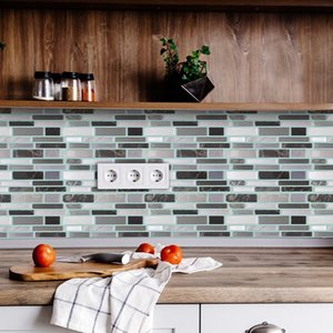 Tile Peel and Stick Self Adhesive Removable Stick On Kitchen Backsplash Bathroom 3D Epoxy Wall Sticker Wallpaper Tiles Stickers Multicolors