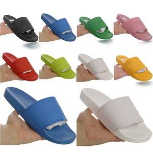 2021 Havuz Slayt Kauçuk Track-S Eğitmenler Tasarımcı Erkek Terlik Hız Katır Flip Flop Yuvarlak İtalya Kaymaz Kadınlar Casual Sandalet Ayakkabı ile 55