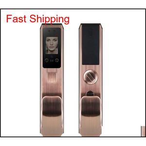 2020- 새로운 FX70 지문 얼굴 인식 도어 잠금 장치 잠금 장치 가구 도난 방지 도어 잠금 암호 브러시 얼굴 QYLLGG TOYS2010