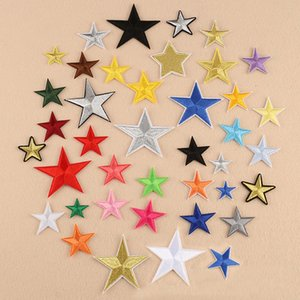 Small Star Military Embroidery Patches for Clothing Iron on Jeans Applique Clothes Badge Stripe Sticker Iron-on Transfer