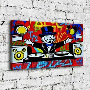 """Alec Monopoly """"IBIZA"""" Home Decor Handpainted &HD Print Oil Painting On Canvas Wall Art Canvas Pictures 210205"""