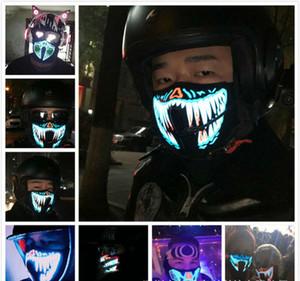 Masque d'EL Masque Flash LED Masque de musique avec son actif pour la danse Patinage de patinage de patinage Voix Control mask masques de fête