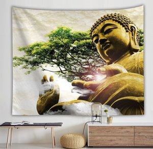 Высокое качество / Горячие Продажи Древний Будда Гобелен Цифровая Печать Фон Стена Индийская Настенная Одеял Одеяло Живопись внешней торговли