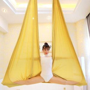 22Meters Pure color Aerial Anti-gravity Yoga Hammock set Swing Bodybuilding Gym Fitness Equipment Inversion Trapeze