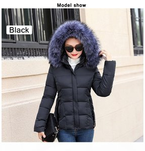 Winter Jacket Women Parkas for Coat Fashion Female Down Jacket With a Hood Large Faux Fur Collar Coat Autumn high quality