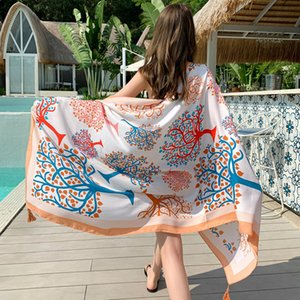 Hot Fashion Sarongs Scarves Female 90*180cm National Windy Balinese Shade Towel Neck Travel Sunscreen Scarf Shawl Cloak Scarf Print Voile
