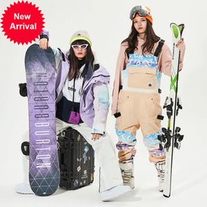 Vector Brand Uomini Donne Giacca Sci Pantaloni da sci Pantaloni Bib Tuta invernale caldo antivento impermeabile Sport sportivi all'aperto Snowboard