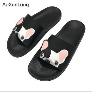 Aoxunlong mulheres verão desenhos animados chinelos outdoor skid slippers mulheres moda casa chinelos casa de banho interior mulheres