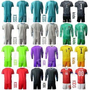 Juventud Rusia Portero Niños Manga Larga Anton Shunin Soccer Jersey Set Igor AkinFeev Matvei Safonov Lev Yashin Portero Camisa de Fútbol Kits