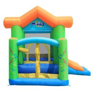 Comercial inflável seguranças para crianças jardim supliram casas duplas com slides infláveis cidade engraçado cidade castelo kid backyard jardins jogar saltando