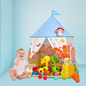 Kid Play Tent Portable Cute Lion Square Yurt Tent Toddler Indoor Playhouse Children Outdoor Garden Play for Kids
