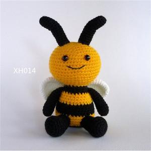 Abelha amigurumi, boneca de brinquedo de crochê,, bumble, brinquedo de bebê de crochê, brinquedo macio, brinquedo recheado, lj201126