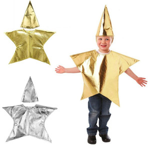 Boys Girls Costume Christmas Kids Evening Party Star Dresses Hat Stage Show Cosplay Fancy Dress Outfit
