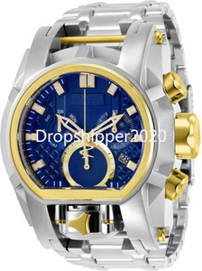 Undefeated Model: 20111 Reserve Bolt Zeus Magnum Luminous Dual Dial 52.5mm Men Quartz Waterproof Watch