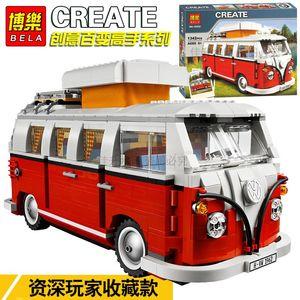 Бела Volkswagen T1 Camper Van Модель Строительные блоки Кирпичи Игрушки Toys Создатель Совместим с Lepinblock City Lepinblock Technic