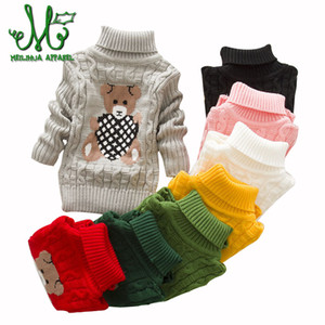 Baby Girls cartoon Sweaters Winter 8 colors Girl Long Sleeve Knitted Clothes Kids Autumn Cute Sweater For Girls 2 6 3 9 7 Years F1203