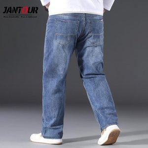 Jantour marca hombres holggy jeans 2021 nuevos hombres sueltos pantalones anchos pantalones moda negocio estilo clásico pantalones de mezclilla masculino 3 colores