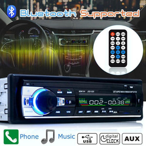 Car In-Dash MP3   storage disk player stereo receiver USB AUX input FM radio player with remote control support Bluetooth