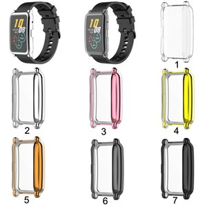 TPU Мягкий силиконовый мягкий полноэкранный стеклянный стеклянный защитный чехол кадра рамки для Huawei Change Es Watch Fitting Plating Protect