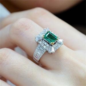 OFF 80% INGELAD STERALD Zircon Square Princess con anello pieno di fidanzamento diamante
