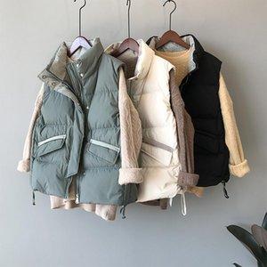 Women's Vests GOPLUS Women Vest Winter Jacket Thick Coat Warm Cotton Padded Female Sleeveless Waistcoat Outwear Casual Jackets Mujer