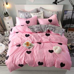 Постельное белье Skincare Aloe Vera Хлопок Три / Четырех частей Набор можно настроить простой комфорт Home Textile Шлифовальная шерсть одеяло