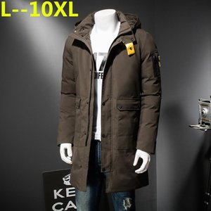 8XL PLUS 9XL SIZE 10XL 6XL New Clothing Jackets Business Long Thick Winter Coat Men Solid Parka Fashion Overcoat Outerwear