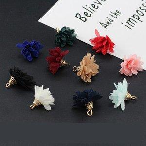 20pc Mini Chiffon Flower Key Tassels for Boho Jewelry DIY Craft Making Supply Pulsera Collar Pendiente Finding Accesorios H Jllyie