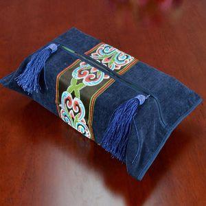Cover Kitchen Storage Holder Home Corduroy Tissue Box Hotel Washable European Style Embroidery Bathroom Wedding Room Decorative