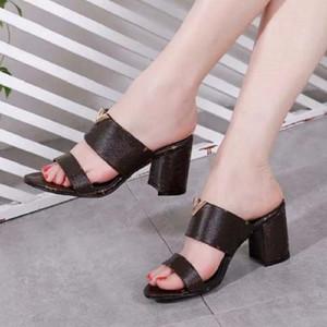 Com caixa! Mulher chinelos sapato sandálias sandálias slide melhor qualidade chinelos moda sclippers chinelos couro genuíno para senhora por sapato02 pa44