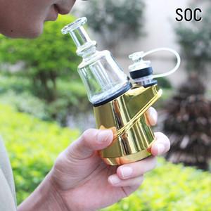 Original SOC Enail Kit 2600mAh Wax Concentrate Shatter Budder Dab Rig Kit With 4 Heat Settings Glass Vaporizer Vape Kit E-Hookah Shisha