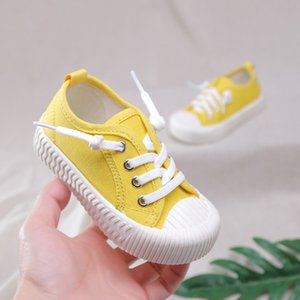 Autumn New Trend Candy Color Kids Shoes Boys Sneakers Easy Slip On Shallow Little Girls Shoes Kids with Elastic Band C12202 201203