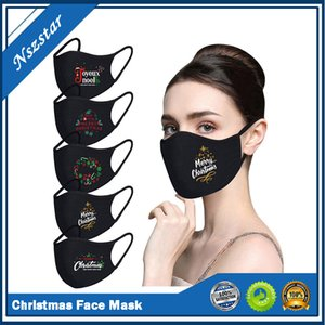 2021 Merry Christmas Santa Snowman Face Masks Printed Xmas Face Masks Anti Dust fog Mouth Cover Breathable Washable Reusable Happy New Year