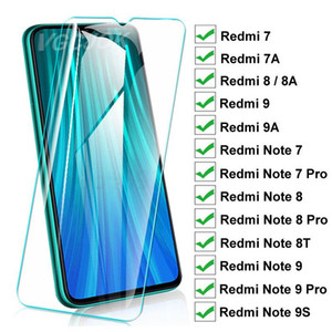 15D Protection Glass For Xiaomi Redmi 8 8A 7 7A 9 9A 9C Tempered Screen Protector On Redmi Note 8T 9S 7 8 9 Pro Glass Film Case