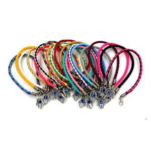 Vente chaude ! 60pcs Leatchoid tressé faima rotation manuelle manuelle méchante bracelets en cuir bracelets bricolage bijoux 57 - couleur