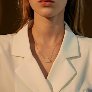 30pcs Lot Korea Simple Cute Cloud Pendant Necklaces Cartoon Resin Clavicle Snake Chain For Women Gift Suit Dress Necklaces Fashion Jewelry