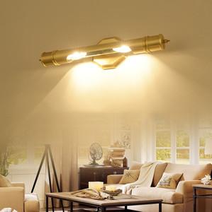Free shipping high quality copper mirror lamp modern sconce AC110V 220v gold bathroom lights