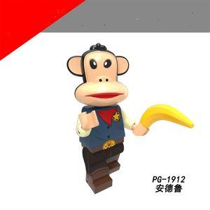 Originale serie anime grande bocca assemblata minifigure scimmia blocco borsa azione figure giocattolo per bambini adulti