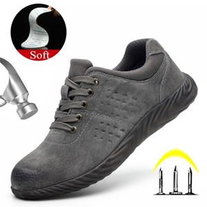 Yuxiang Winter Safety Shoes Anti Smashing Punching Publy TRABAJO Cuero Hombres Botas de trabajo Calzado ligero Y200915