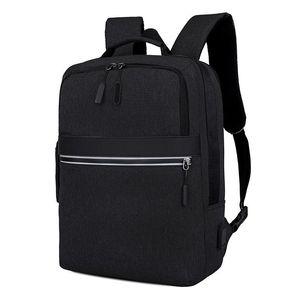 Рюкзак мужчина серый высококачественный повседневный ноутбук мужчины USB большая емкость Оксфорд мужской задний пакет колледжа Bagpack подросток
