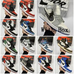 with box SnakeskinJordanRetro 1 Jumpman Low OG 1 1s Basketball UNC Chicago Top 3 Travis Scotts Washed Denim stylist Shoes 11149252